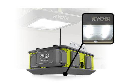 Ryobi 2 Hp Quiet Remote Garage Door Opener Wifi Battery