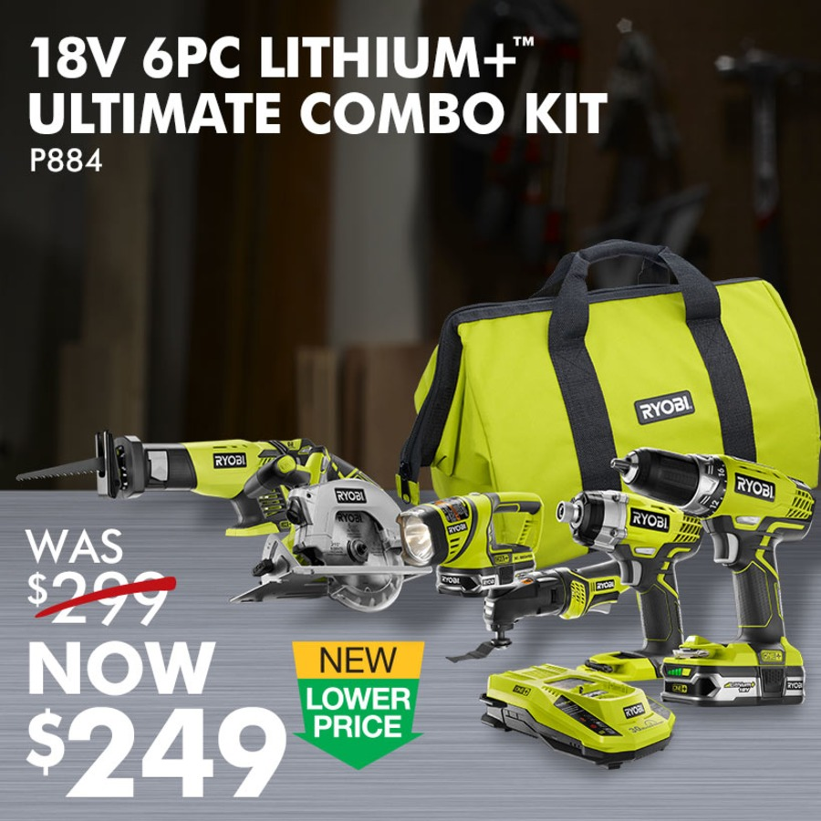18V 6 PC. LITHIUM+™ ULTIMATE COMBO KIT