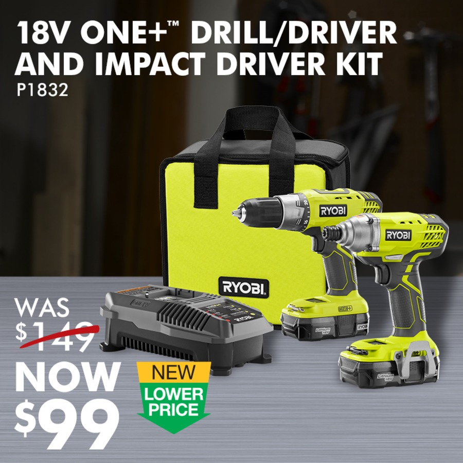 18V ONE+™ Lithium-Ion Drill and Impact Driver Kit