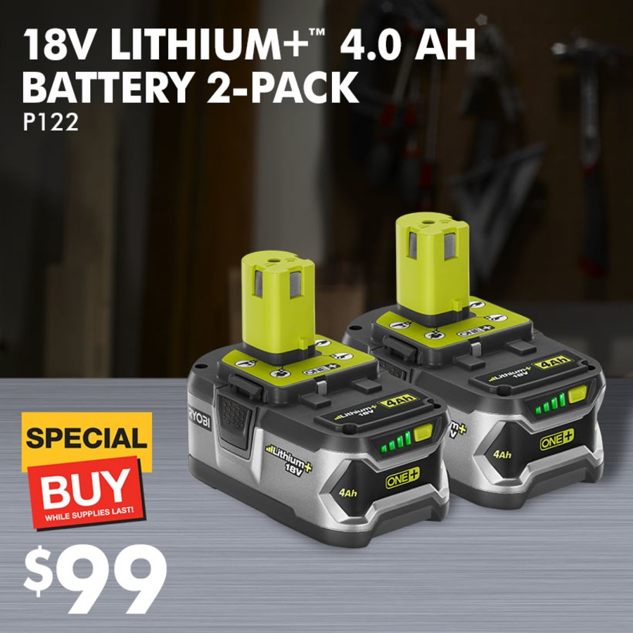 18V LITHIUM+™ 4.0 AH BATTERY WITH FREE 2ND BATTERY