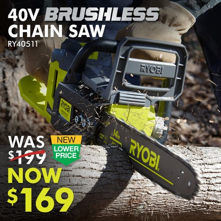 40V 14 IN. BRUSHLESS CHAIN SAW