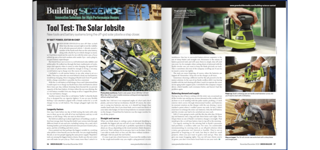 Photo: Tool Test: The Solar Jobsite