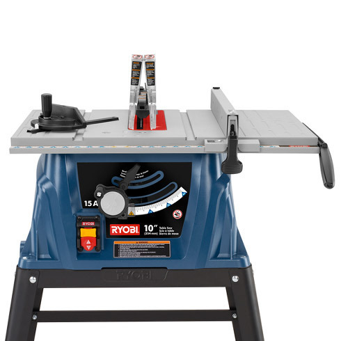 10 in table saw with steel stand ryobi tools 16 inch x 25 34 inch table greentooth Images