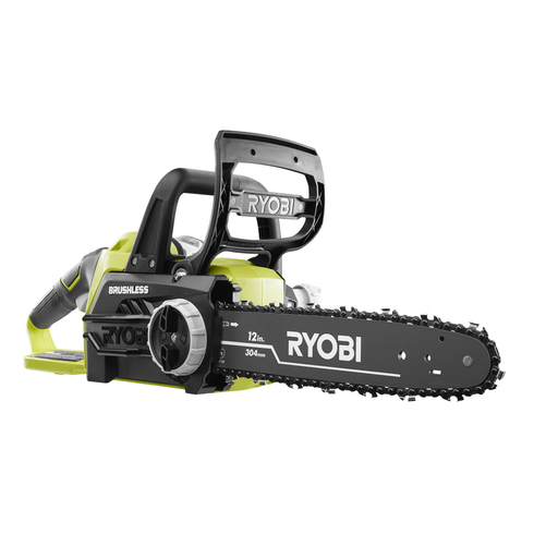 18v one lithium 12 in brushless chain saw ryobi tools brushless chain saw greentooth Images