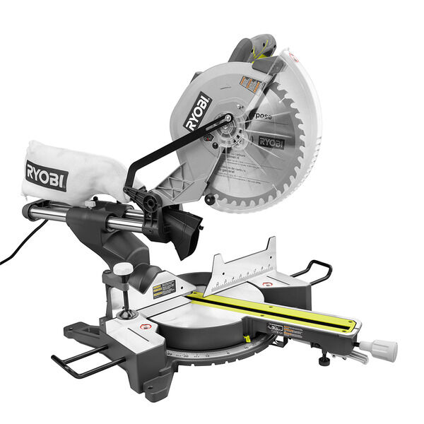 12 In Sliding Compound Miter Saw With Led Ryobi Tools