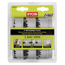 4 IN. Drywall Repair Kit  Replacement Plugs