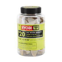 Ryobi #20 Wood Biscuits (100 PC.)