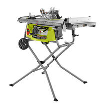 10 in.Expanded Capacity Table Saw with Rolling Stand