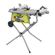 10 IN. Expanded Capacity Table Saw with Rolling Stand