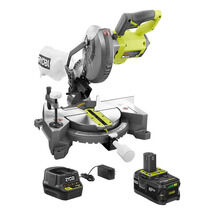 18-Volt ONE+ Cordless 7-1/4 in. Compound Miter Saw with (1) 4.0 Ah Lithium-Ion Battery and 18-Volt Charger