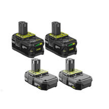 RYOBI 18-Volt ONE+ Battery Kit with (2) 2.0 Ah and (2) 4.0 Ah Batteries