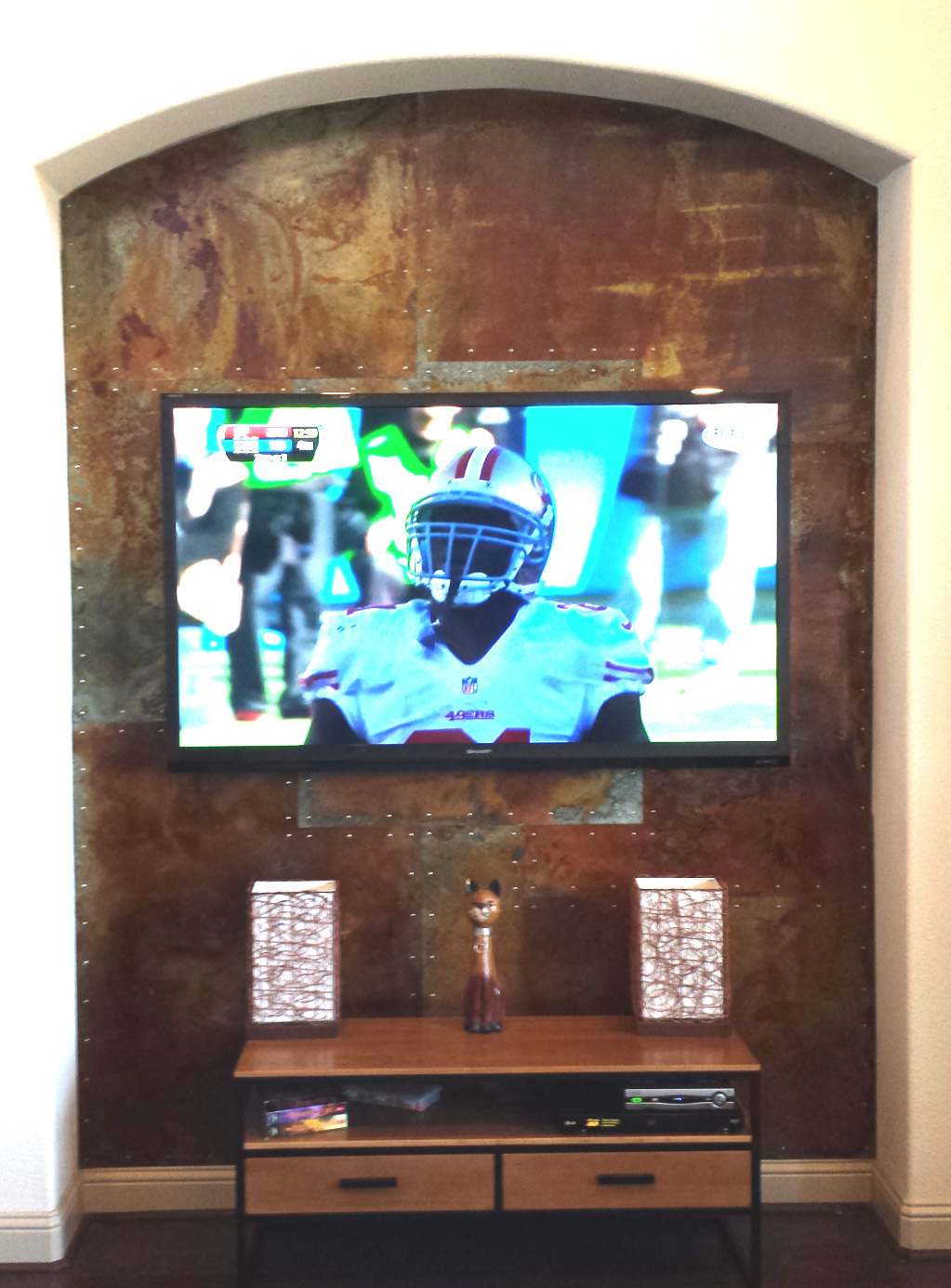 Rusted Wall Panels Tv Niche Ryobi Nation Projects