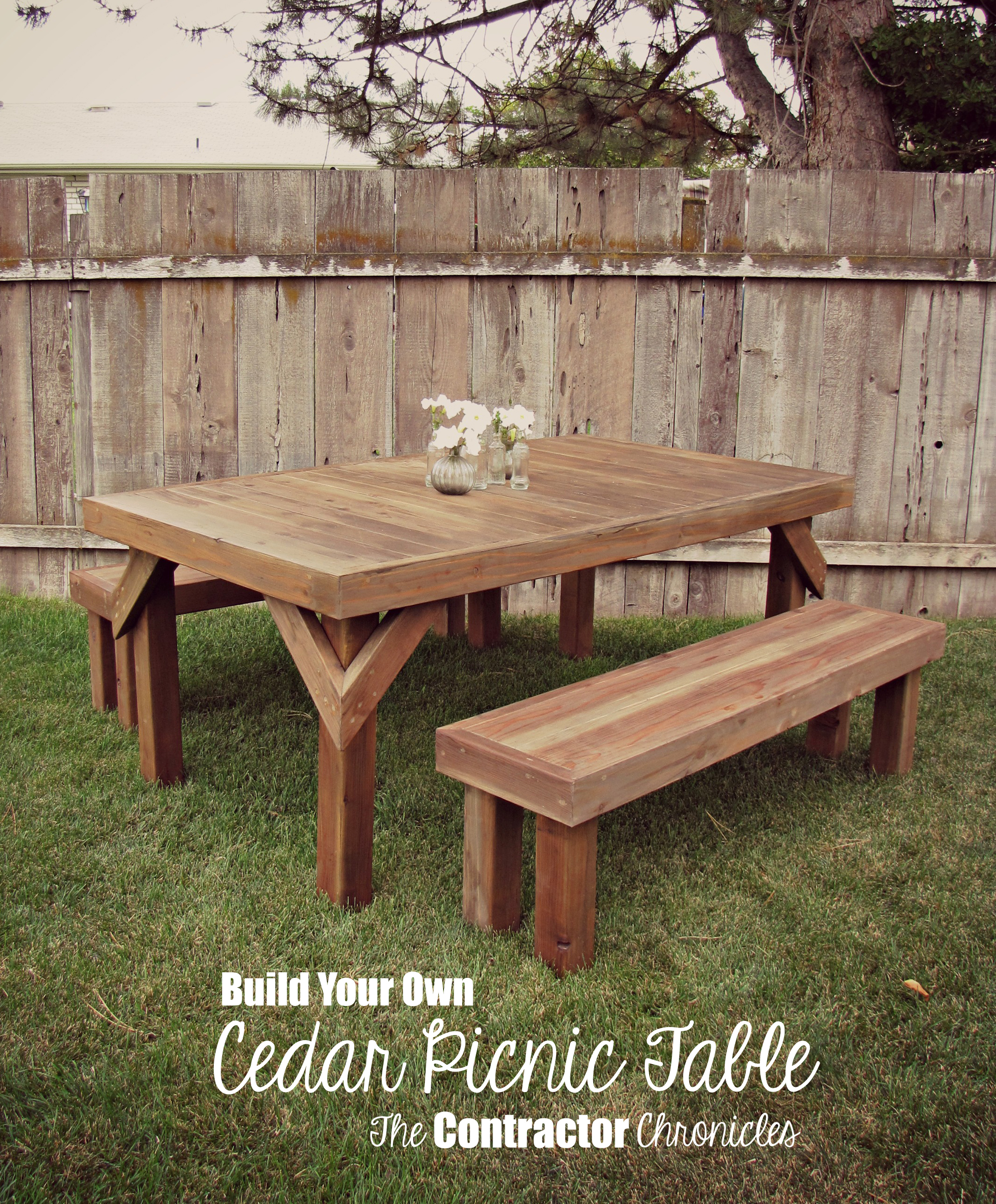 Build Your Own Rustic Cedar Picnic Table Ryobi Nation