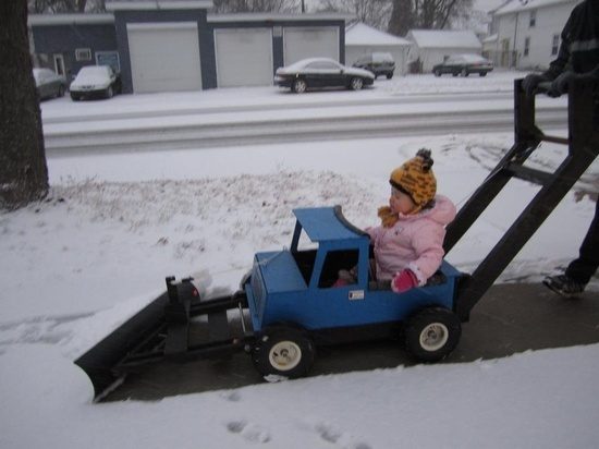 Child Push Snow Plow For Work And Play Ryobi Nation Projects