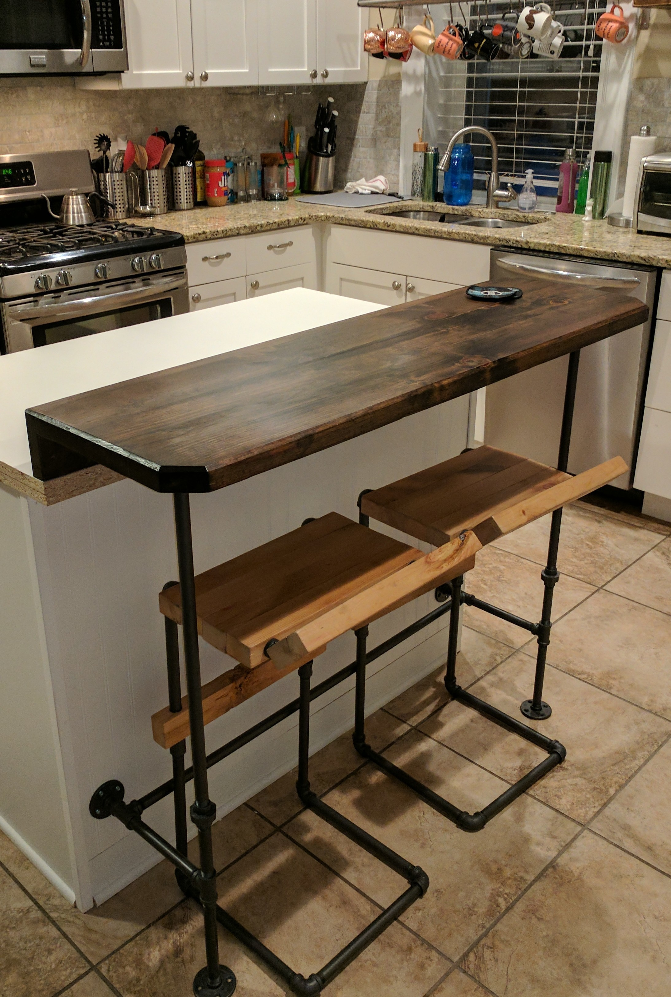 Kitchen Island Bar Top And Stools