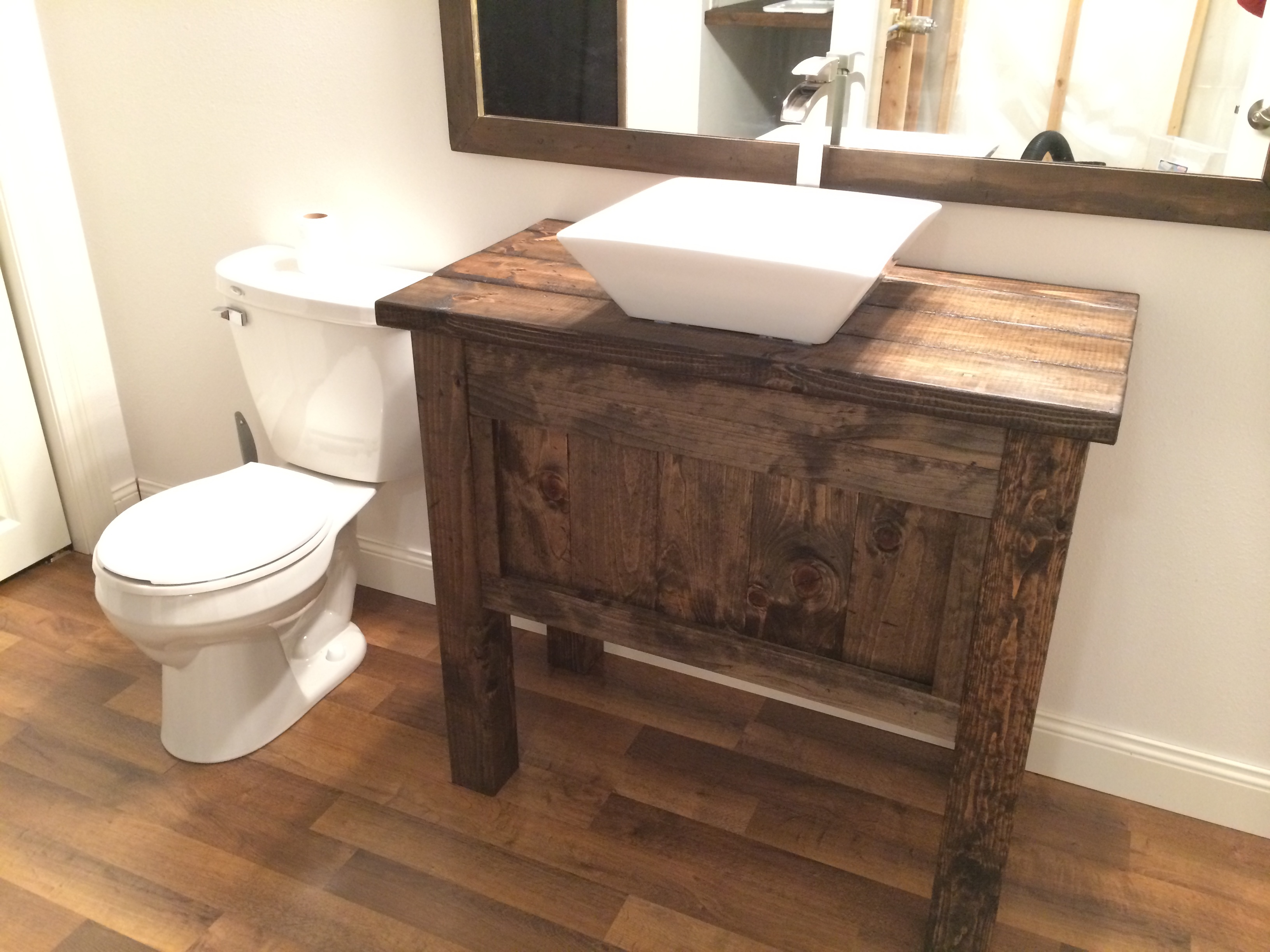 Rustic Farmhouse Bathroom Vanity With