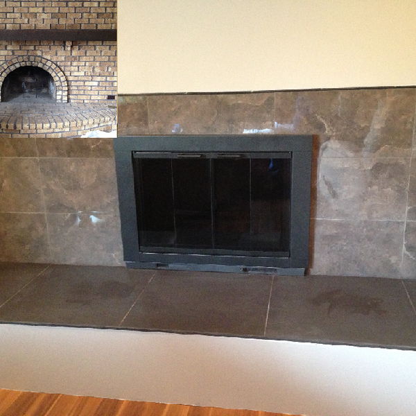 Photo: Before and After Fireplace wall