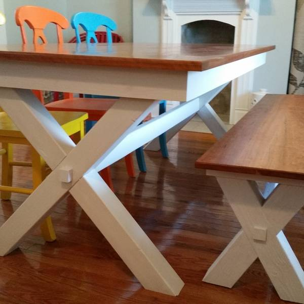 Cherry Kitchen Table and Bench - RYOBI Nation Projects