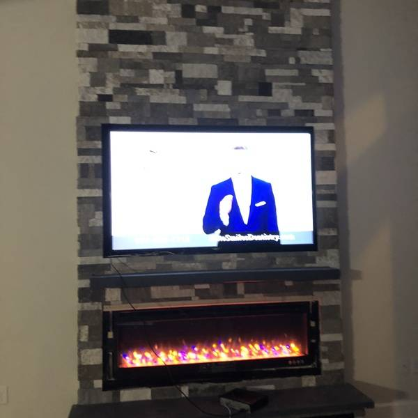 Photo: Electric fireplace surround