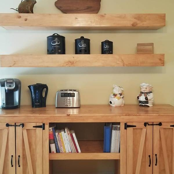 Photo: Coffee Bar and floating shelves
