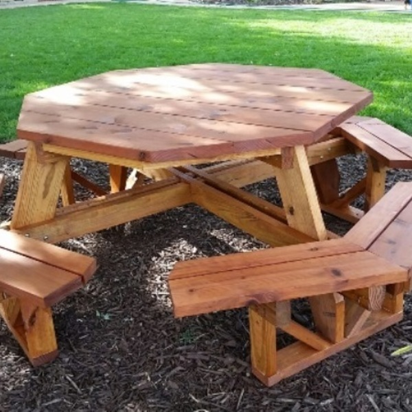 Photo: Easy Access Octagon Picnic Table