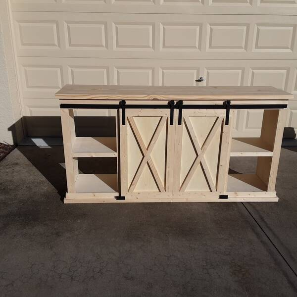 Photo: Farmhouse Barn Door Console