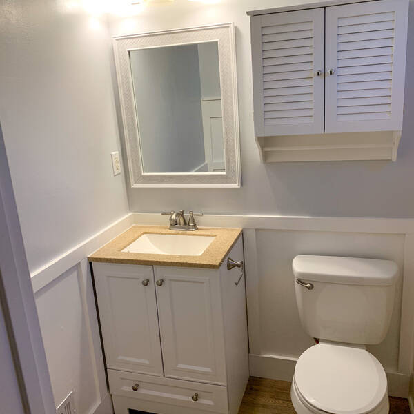 Photo: Small bathroom renovation