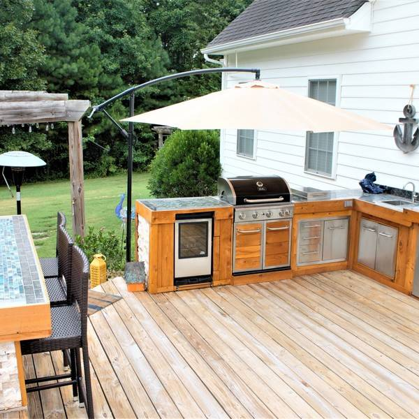 Photo: Modern Rustic Outdoor Kitchen