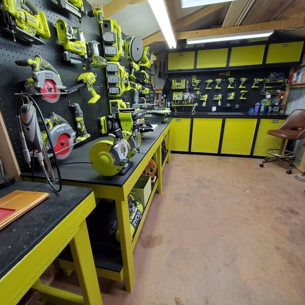 Photo: Work shop powered by Ryobi