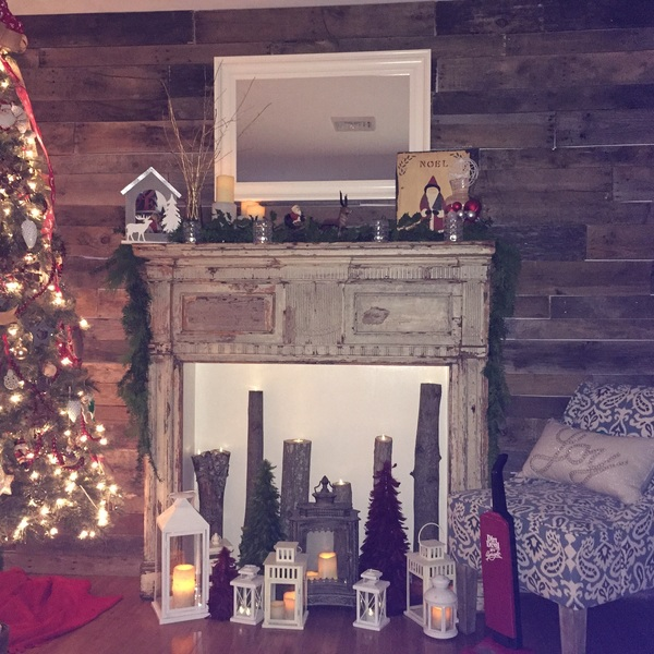 Photo: Mantel and wall