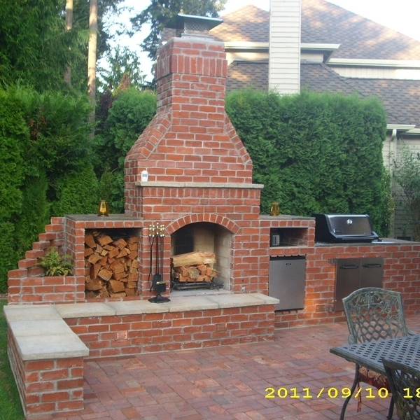 Photo: Outdoor fireplace