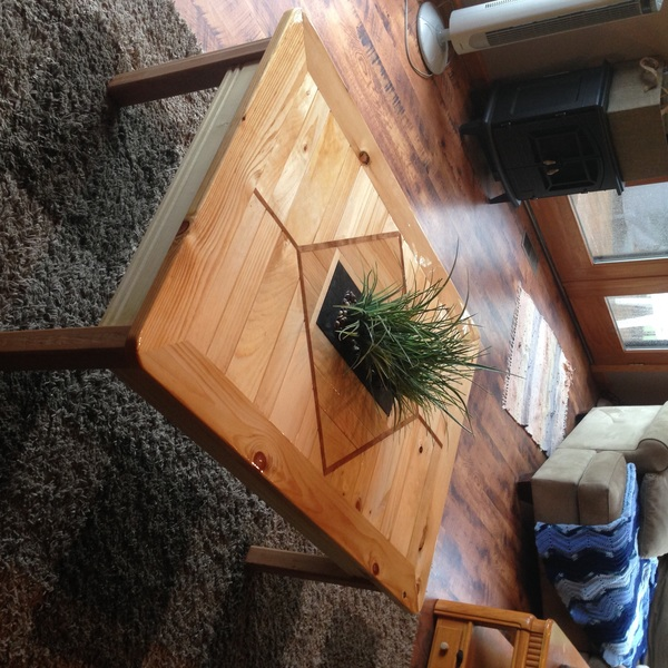 Photo: Table with fake plant