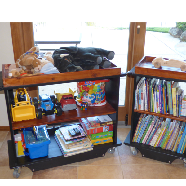 Photo: Rolling Toy and Book Carts