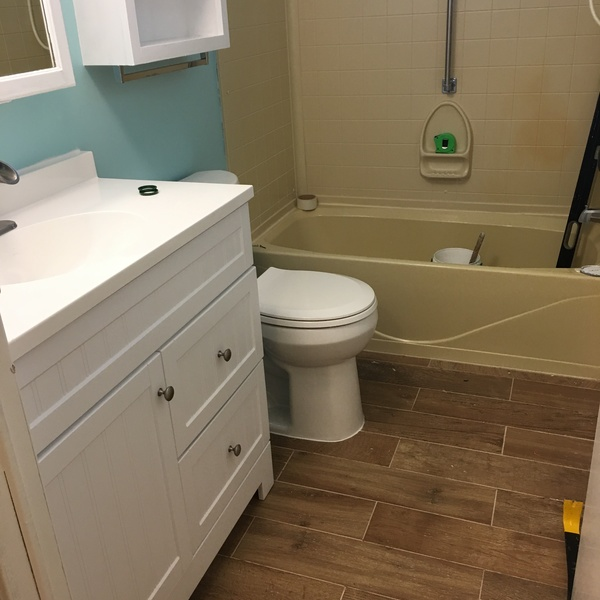 Photo: Bathroom renovation.