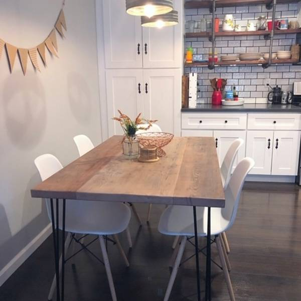 Photo: Recycled Barnwood Dining Table