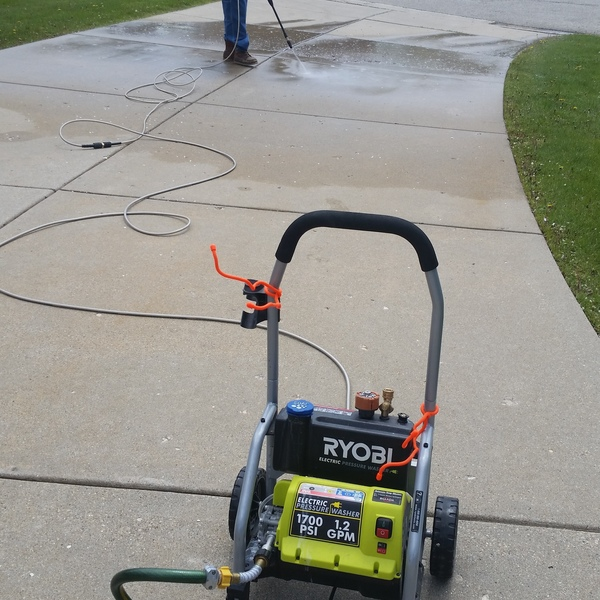 Photo: Pressure washing