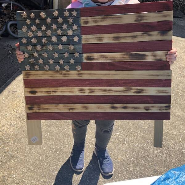 Photo: Child's first wooden flag
