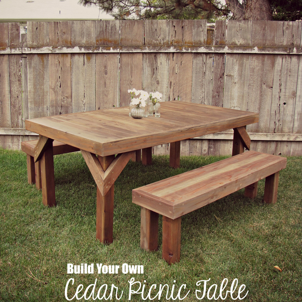 Awesome Build Your Own Rustic Cedar Picnic Table Ryobi Nation Projects Dailytribune Chair Design For Home Dailytribuneorg