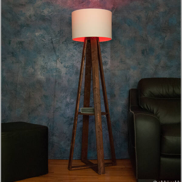 Photo: Wooden Floor Lamp