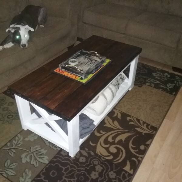Photo: Ana white farmhouse coffee table