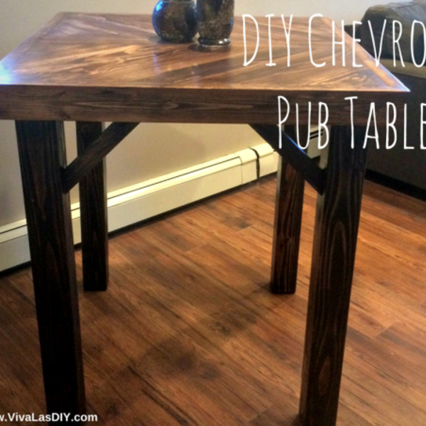 Diy Chevron Pub Table Ryobi Nation Projects