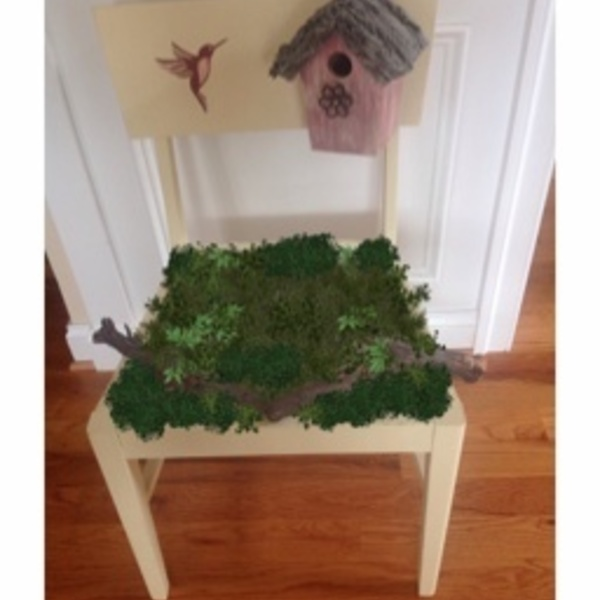 Photo: Up-Cycled a Broken Chair Into a Garden Assent.