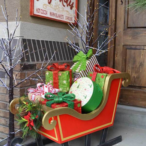 Santas Diy Wood Sleigh Ryobi Nation Projects