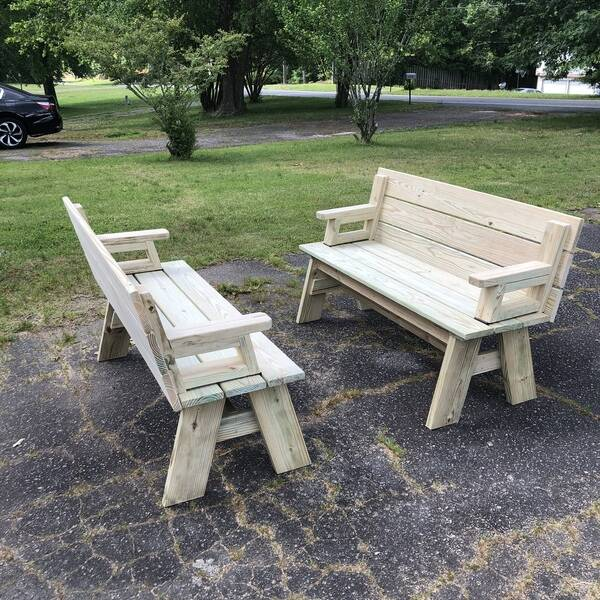 Photo: Benches to picnic table