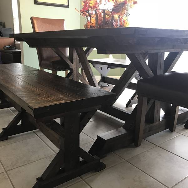 Photo: Kicthen table and matching benches