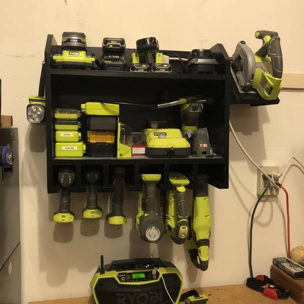 Photo: Battery Charging Station and Tool Holder