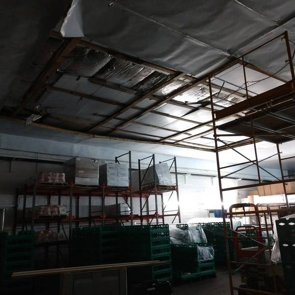 Photo: Factory ceiling mishap