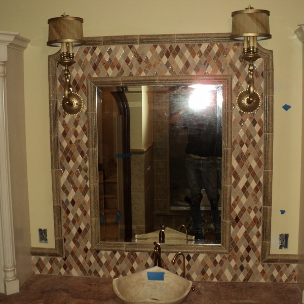 Photo: Mirror Backsplash Surround