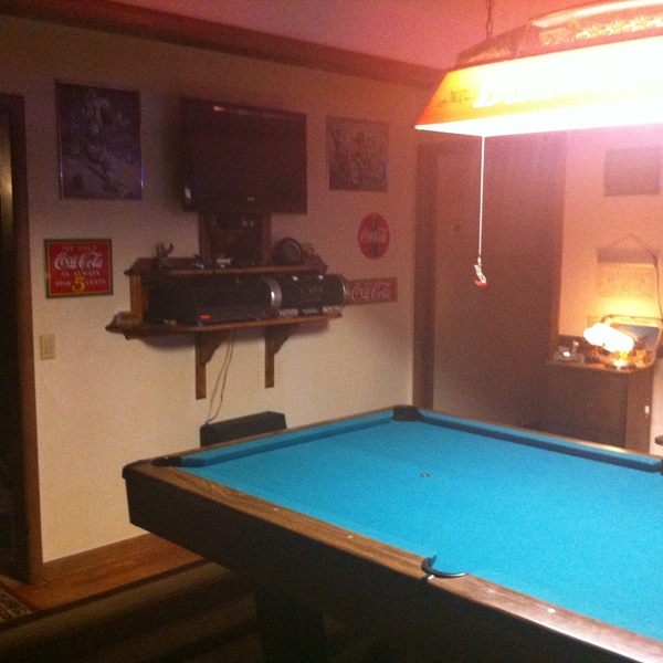 Photo: In wall game room entertainment center