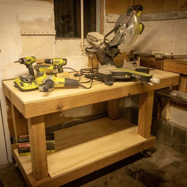 Super Easy Cheap Workbench And Mobile Ryobi Nation Projects Caraccident5 Cool Chair Designs And Ideas Caraccident5Info